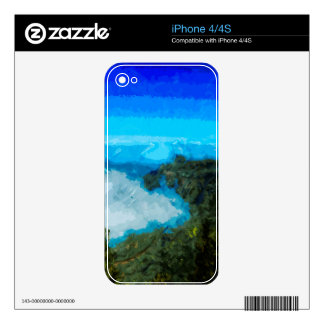 Kauai Na Pali Coast From Koke'e Abstract iPhone 4 Decal