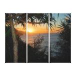 Kauai Na Pali Coast Sunset Stretched Canvas Print