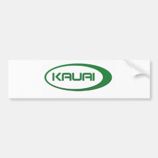 Kauai Oval Bumper Sticker