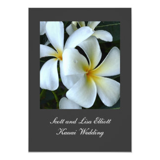 Kauai Plumeria Wedding Card