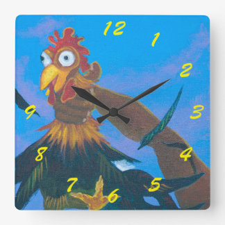 Kauai Quiet Time Square Wall Clock