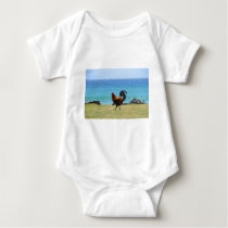 Kauai rooster baby bodysuit