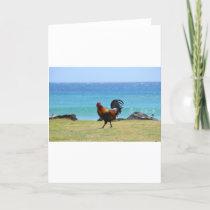 Kauai rooster card