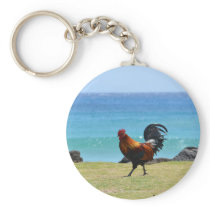 Kauai rooster keychain