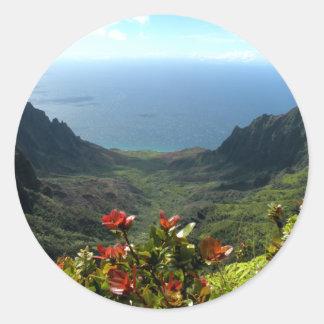 Kauai's Na Pali Coast Classic Round Sticker