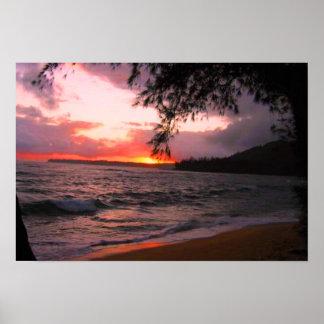 Kauai sunset canvas print