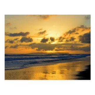 Kauai Sunset with Niihau on Horizon Post Card