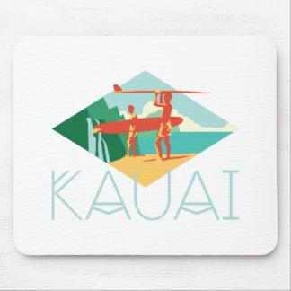 Kauai Surfers Mouse Pad
