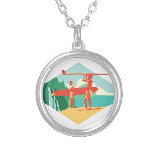 Kauai Surfers Silver Plated Necklace