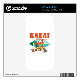 Kauai Surfs Up Decals For iPhone 4S
