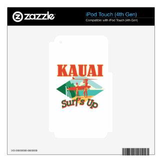 Kauai Surfs Up iPod Touch 4G Decal