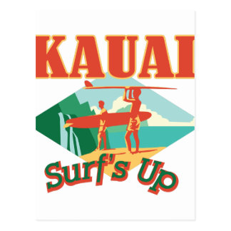 Kauai Surfs Up Postcard