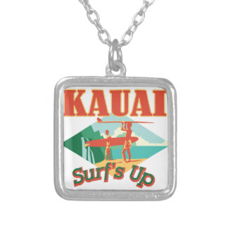 Kauai Surfs Up Silver Plated Necklace