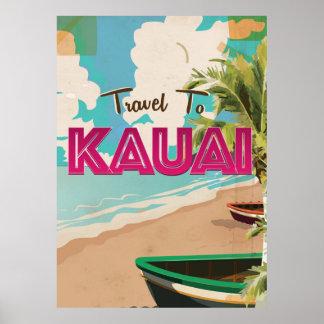 Kauai Vintage vacation Poster