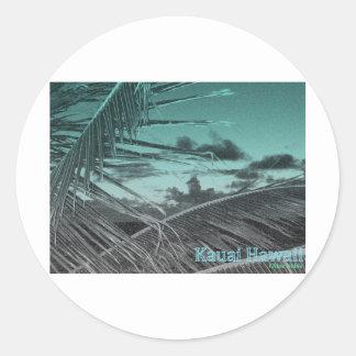 Kauaii Palm Fronds Classic Round Sticker