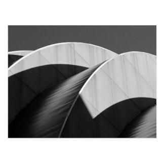 Kauffman Center Black and White Curves Postcard
