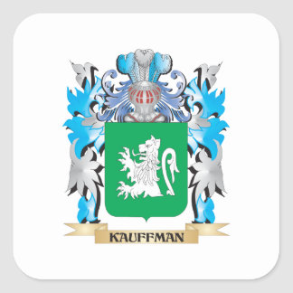 Kauffman Coat of Arms - Family Crest Square Sticker