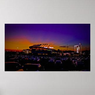 Kauffman Stadium Kansas City HUGE Canvas Art Print
