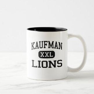 Kaufman - Lions - High School - Kaufman Texas Two-Tone Coffee Mug