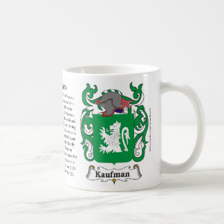 Kaufman, the History, the Meaning and the Crest Classic White Coffee Mug