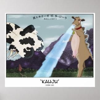 Kauju! (Cow-Ju) -- Moothra vs Cowzilla Print