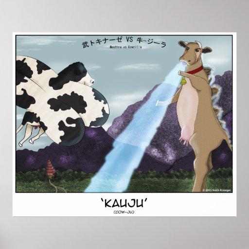 Kauju! (Cow-Ju) -- Moothra vs Cowzilla Poster