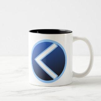 Kaunan Kaun Kanaz Rune Two-Tone Coffee Mug