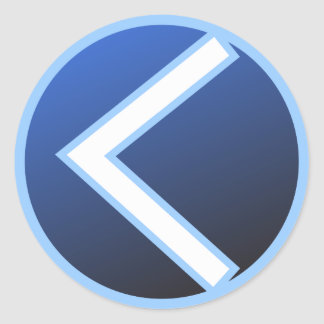 Kaunan Kaun Kanaz Rune Classic Round Sticker
