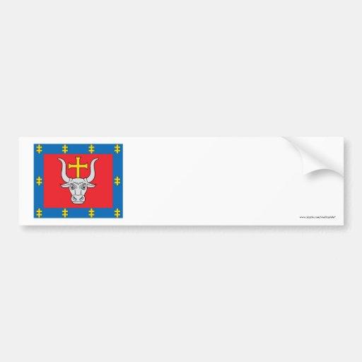 Kauno County Flag Car Bumper Sticker