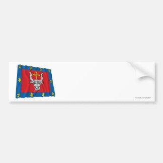 Kauno County Waving Flag Bumper Sticker