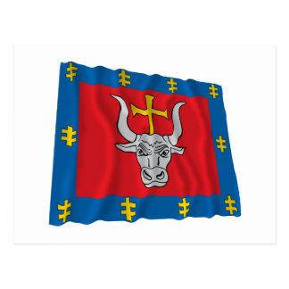 Kauno County Waving Flag Post Card
