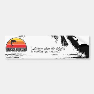 Kava Delfin Bumper Sticker Car Bumper Sticker