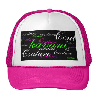Kavani Mami Lime/Raspberry Couture Hat