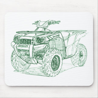 Kaw Brute Force 750 2009+ Mouse Pad