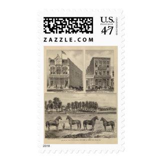 Kaw Valley Farm, Marion, and Topeka, Kansas Postage
