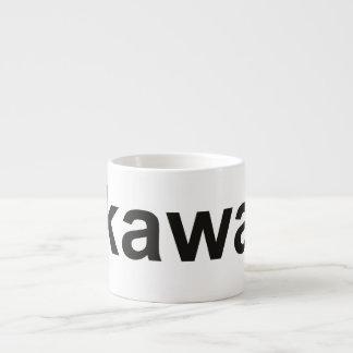 kawa - Coffee in Polish, black Espresso Cup