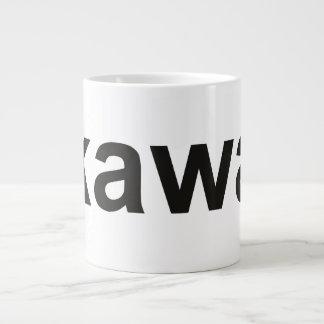 kawa - Coffee in Polish, black Large Coffee Mug