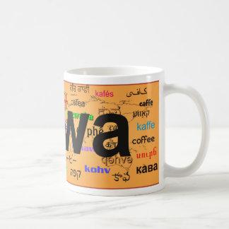 kawa - Coffee in Polish, black. Map. Coffee Mug