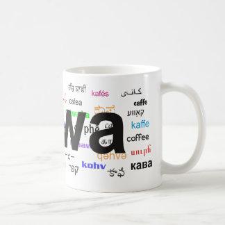 kawa - Coffee in Polish, black. Multi. Coffee Mug