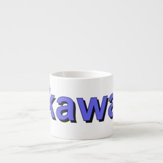 kawa - Coffee in Polish, blue Espresso Cup