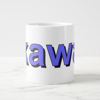 kawa - Coffee in Polish, blue Giant Coffee Mug