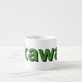 kawa - Coffee in Polish, green Espresso Cup