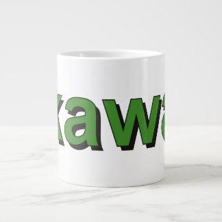 kawa - Coffee in Polish, green Giant Coffee Mug