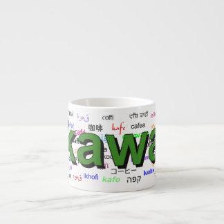 kawa - Coffee in Polish, green. Multi. Espresso Cup