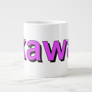 kawa - Coffee in Polish, purple Large Coffee Mug