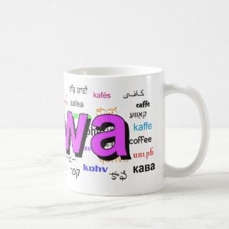kawa - Coffee in Polish, purple. Multi. Coffee Mug