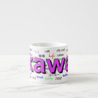 kawa - Coffee in Polish, purple. Multi. Espresso Cup