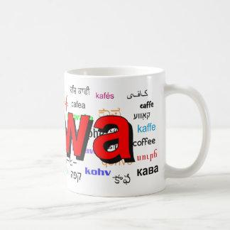 kawa - Coffee in Polish, red. Multi. Coffee Mug