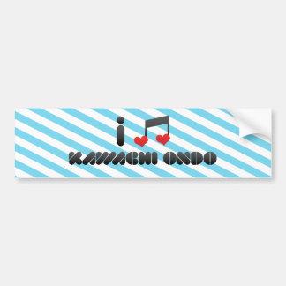 Kawachi Ondo fan Bumper Sticker