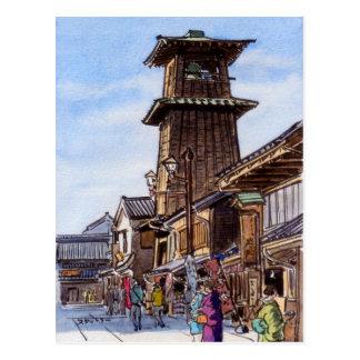 Kawagoe bell tower postcards